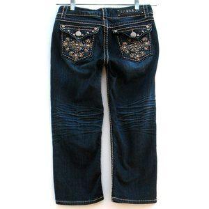 LA Idol Cropped Capri Flap Pockets Stretch Sz 7